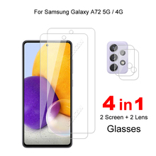 For Samsung Galaxy A72 5G / 4G Camera Lens Film & Protective Glass Screen Protector Tempered Glass Guard