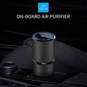 Image 1 - Ambientador de ar do carro usb mudo vento ajustável íons negativos purificador de ar máquina dispositivo purificador de ar do carro difusor de ar prático