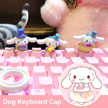 Keyboard accessories Cute Jade GUI Dog Big Personality Keycap Cartoon Mechanical Keyboard R4 Single Pink Transparent Stereo PBT