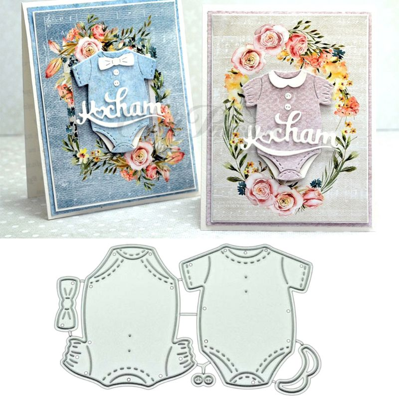 Baby Clothes DIY Metal Cutting Dies Stencil Scrapbooking Photo Album Stamp Paper Card Crafts Decor X7YD