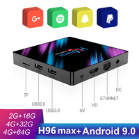 android 4 2 H96 MAX Android 9.0 Smart TV Box RK3318 4GB 64GB Media Player 4K 2.4G&5G Wifi Bluetooth 4.0 Android Tv Box H96MAX Set Top Box (1)