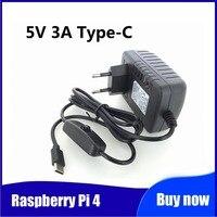 Raspberry Pi 4 alimentation 5V 3A typ-c adaptateur secteur avec interrupteur marche/arrêt EU UNS AU UK USB-C chargeur gießen Raspb