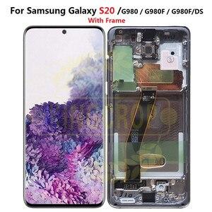 Image 2 - Für Samsung Galaxy S20 Lcd G980,G980F, g980F/DS mit Rahmen Display Touchscreen Digitizer Für Samsung s20 plus LCD G985 G985F
