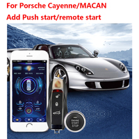 For Porsche Cayenne/MACAN/ add push button start stop system mobile phone APP Control system remote control PKE Keyless Entry