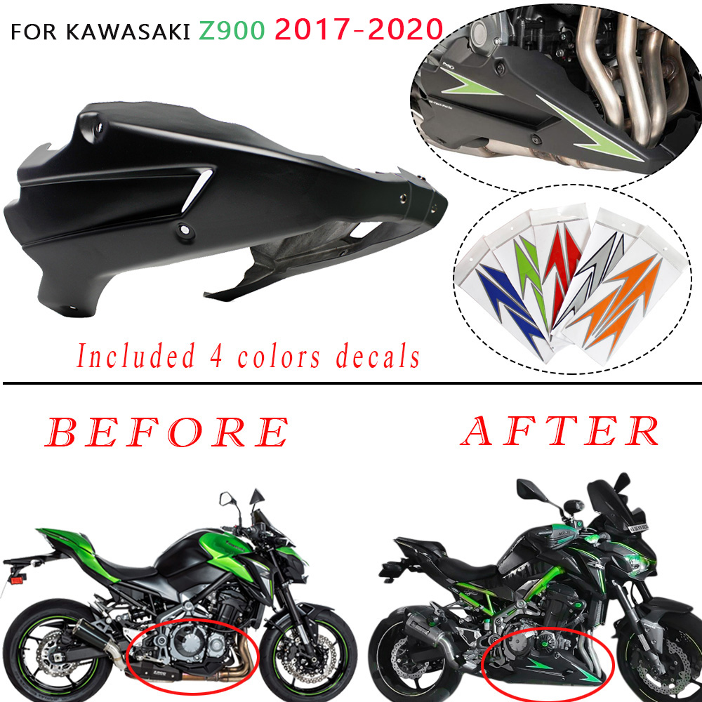 Motorcycle Z900 Bellypan Belly Pan Engine Spoiler Fairing ABS Body Frame Kit Lower Panel for Kawasaki Z 900 2017 2018 2019 2020