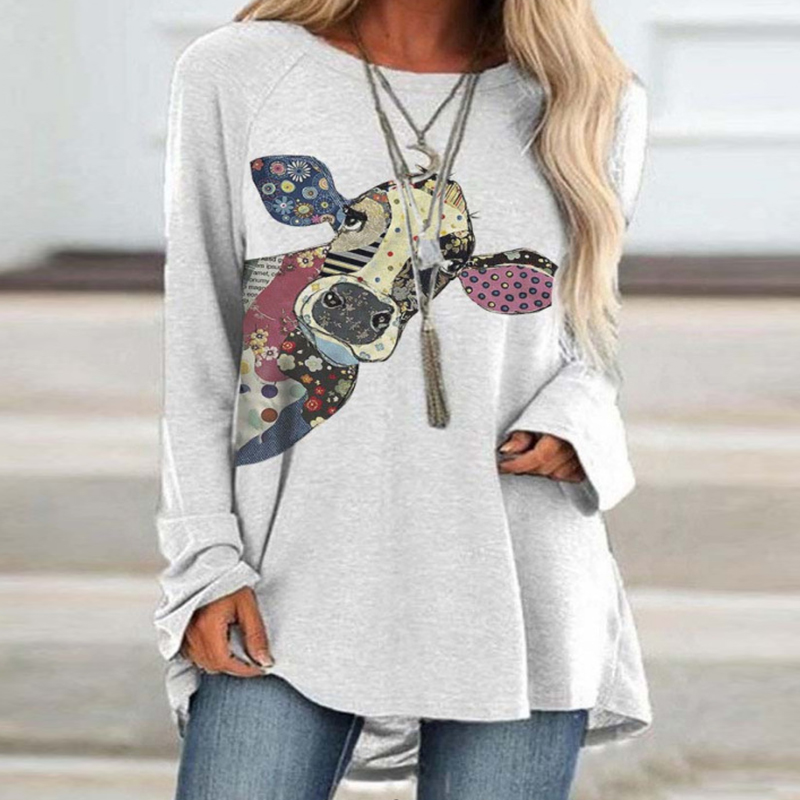 Fashion Animal Dragonfly Print Women Tee Shirt Summer Autumn Casual Long Sleeve Loose Tops 2020 Ladies O Neck T-Shirt Streetwear