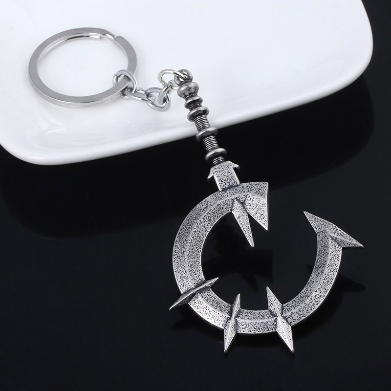New Game Dark Souls Keychain Thorns Soft Whip Weapon Badge Metal Keyring Men Car Women Bag Jewelry Accessories image