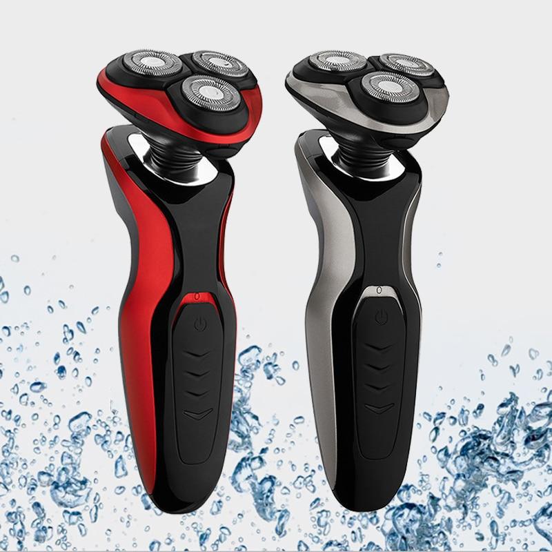 Electric Shaver Three-knife Body Washable Rechargeable Razor Electric Smart Razor Men\'s Multi-function Beard Knife