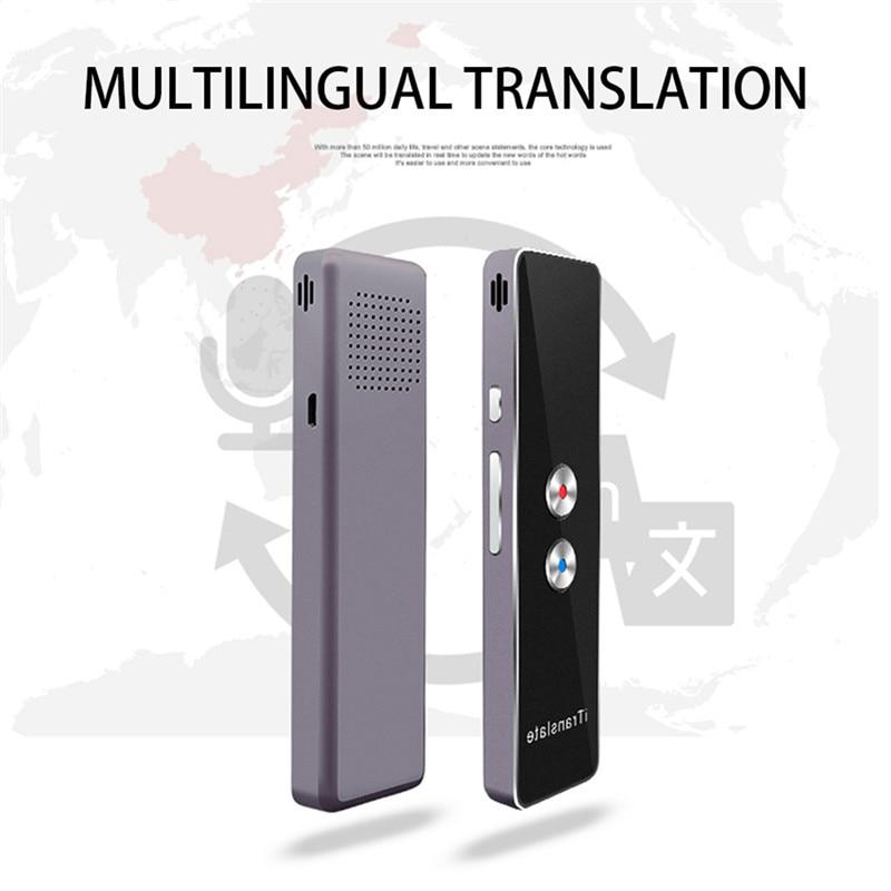 Smart Stimme Instant Kabellos Translator Bluetooth Echt Zeit Rede Treffen 2019