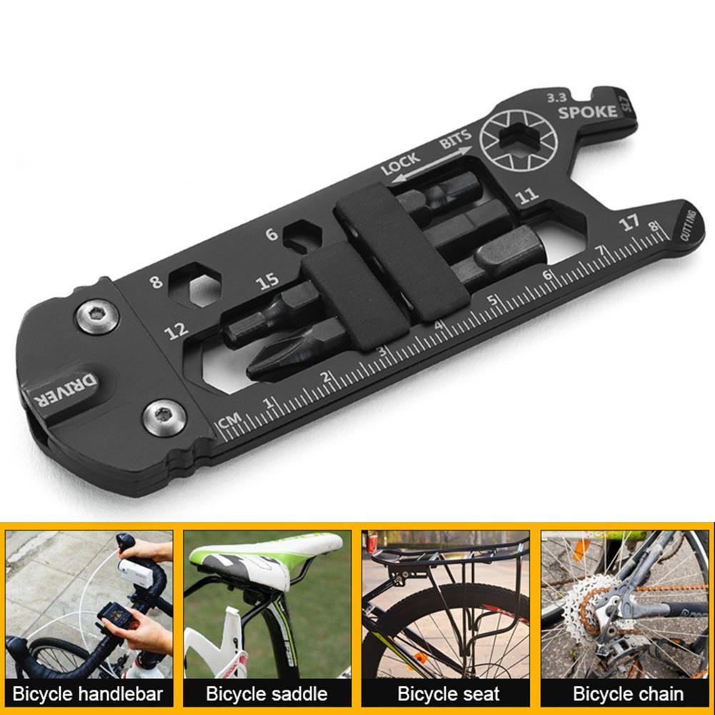 Clé à vélo vélo outil Portable multifonctionnel Kit de réparation de vélo innovant outils pour le voyage Sports de plein air équitation
