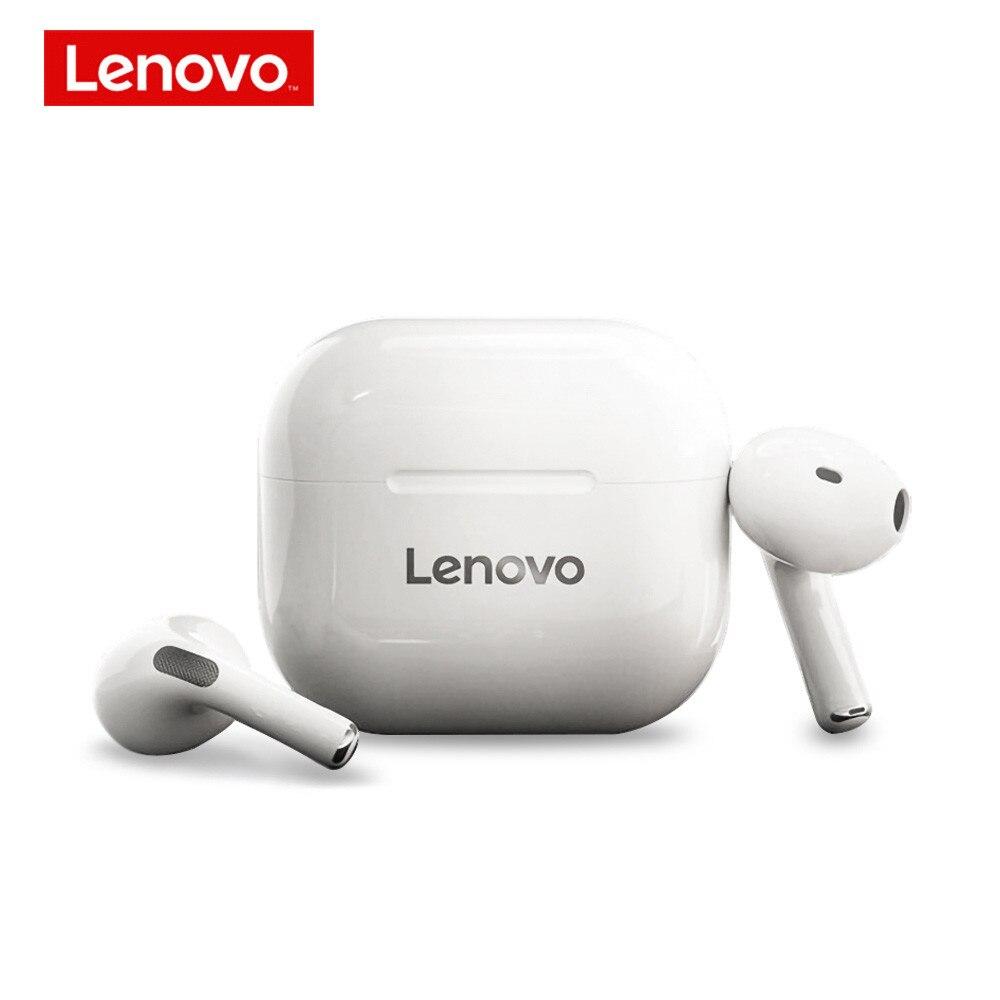 Lenovo lp40 tws fones de ouvido sem fio bluetooth 5.0 estéreo hd falar com microfone fone controle toque auriculares 300mah