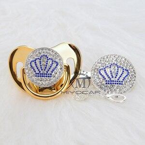 Image 4 - MIYOCAR זהב יפה זהב כחול בלינג כתר מוצץ מוצץ קליפ סט BPA משלוח dummy בלינג ייחודי עיצוב ABCB 1