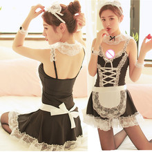 Sexy Porno Lingerie Babydoll Erotic Costume Woman Lingerie Lace Maid Dress Sexy Underwear Sexi Lenceria Erotic Lingerie Cosplay