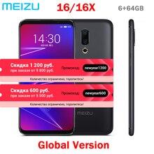 Meizu 16, 4G, LTE, 6G, 64G, глобальная версия, мобильный телефон Snapdragon 710, четыре ядра, 6,0 дюймов, 2160x1080 P, полный экран, двойная камера заднего вида