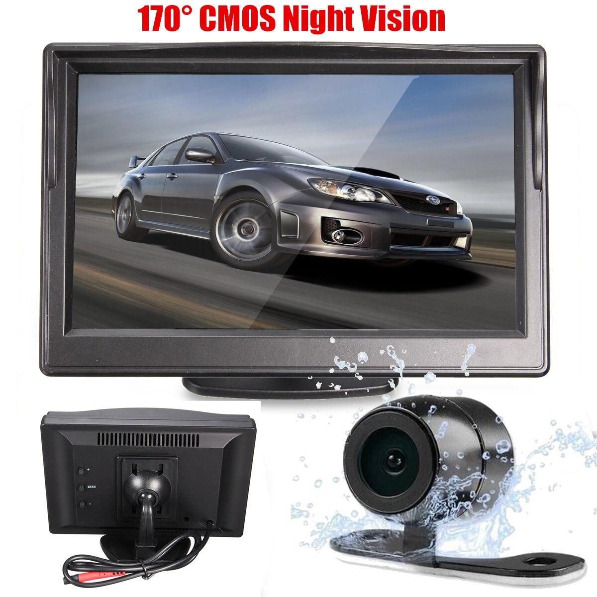 5 Cal wyświetlacz tft lcd Monitor widok z tyłu samochodu Backup ekran monitora wstecznego + kamera parkowania HD Night Vision