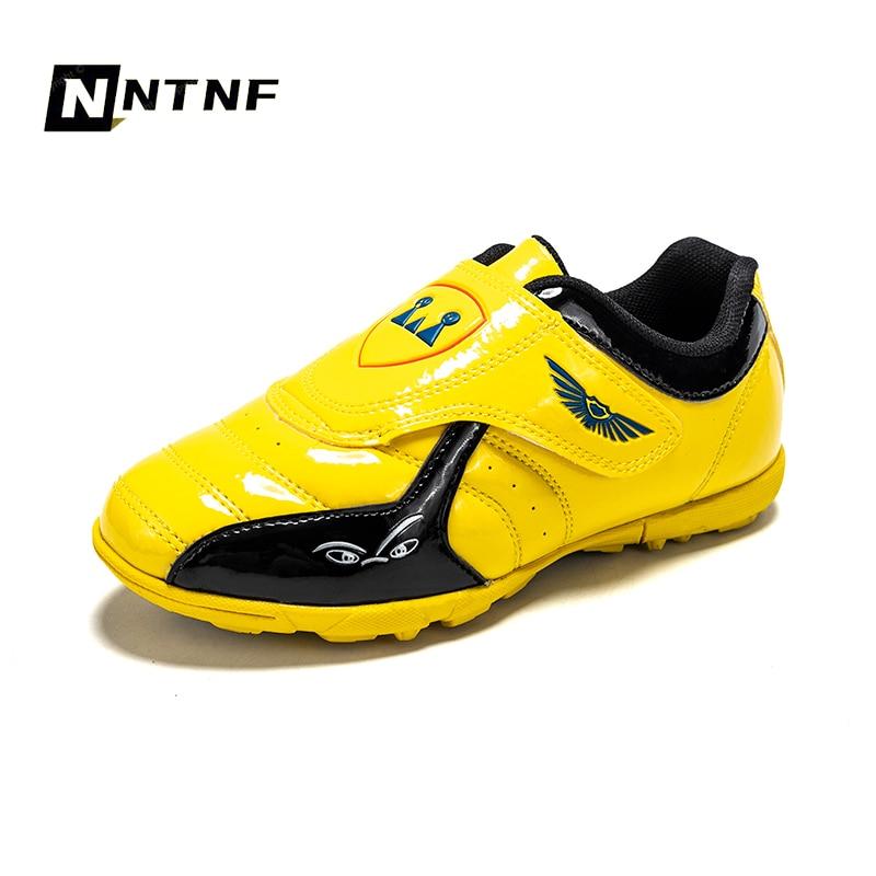 Botas De Fútbol Para Niños, Zapatillas De Deporte Para Entrenamiento Al Aire Libre, Zapatos De Fútbol Con Gancho