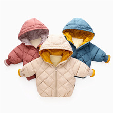 2019 Boys Winter Jacket Male Baby Girl Boy Outdoor Coat Snowsuit Kids Down winter  hat jacket girl