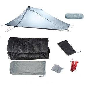 Image 4 - 3F UL Gear Lanshan 2 Pro beztłokowy namiot 20D silikonowy ultralekki wodoodporny 3 sezon 2 osoby namioty na zewnątrz Camping piesze wycieczki