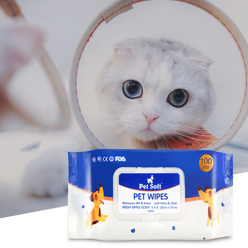 500pcs Pet Cleanig Wipes Natural And Gentle Wipes For Removing Eye Stains And Odor Pet Disinfection Towel Grooming Supplies