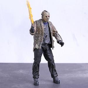 Image 2 - NECA Freddy vs. Jason Jason Voorhees PVC Action Figure Sammeln Modell Spielzeug 18cm