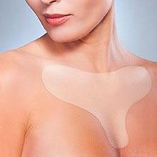 Reutilizável anti enrugamento peito almofada de silicone transparente remoção remendo rosto cuidados com a pele anti envelhecimento peito levantamento remendo carne