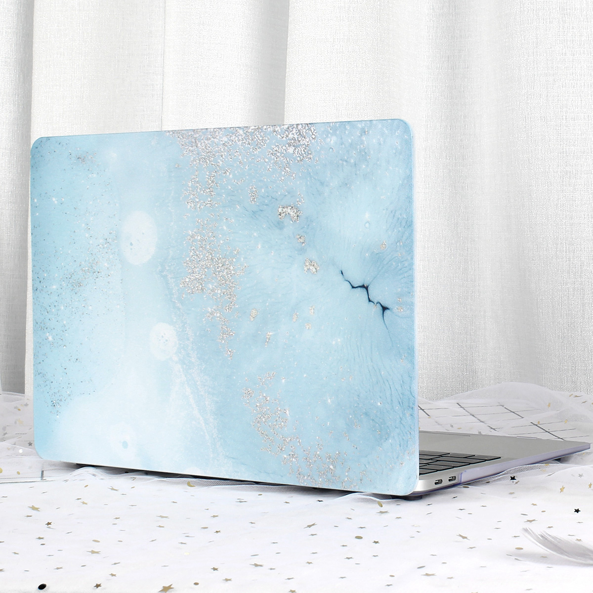 Marble Flower Pattern Case for MacBook 67