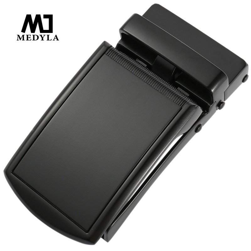 MEDYLA New Belt Buckle Hard Metal Matte Black Automatic Belt Buckle Quick Release Design Inner Diameter 3.6cm Mens Belt Buckle