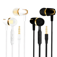 цена на 3.5mm Wired Earphone Bass Sports Headsets In-Ear With Mic Earpiece Running Earbud For PC Phone Xiaomi Huawei IPhone Samsung Sony