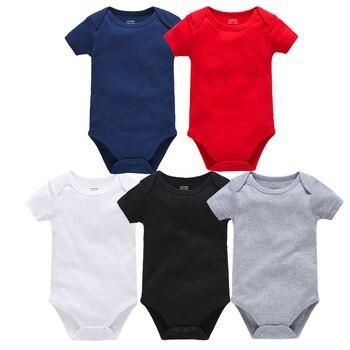 2019 mamelucos de algodón sólido para recién nacidos ropa de manga corta ropa de bebé cuerpo bebe 3 6 9 12 18 24M para niños