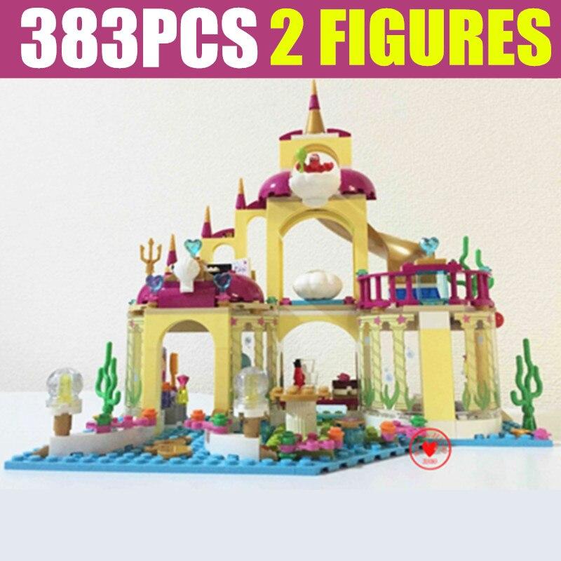 Jaunā 10436. gada filmas Princese nāriņa Ariela zemūdens pils Princeses draugu figūras Ēku bloki Ķieģeļi Bērnu dāvanas Meiteņu dzimšanas diena