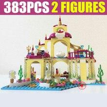 New 10436 Princess Movie Mermaid Ariel's Undersea Palace Princess Friends Figures Building Block Bricks Kid Gift Girls Birthday