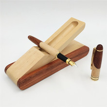 Wooden Crafts Wooden Pen Set Wooden Stationery Set Wood Fountain Pen Set Stationery Office Supply Student