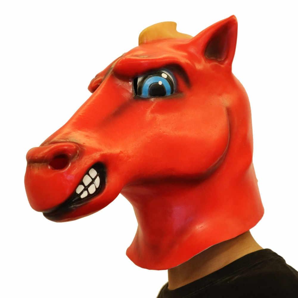Горячее предложение, латексная маска на Хэллоуин, Вечерние Маски на все лицо, ужасные животные, собака, голова лошади, реквизит для маскарада, маски на Хэллоуин, вечерние принадлежности