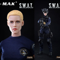 In Stock For Collection 1/6 Scale Female Solider Mini Times Toys SWAT M016 Action Figure Model for Fans Holiday Gifts