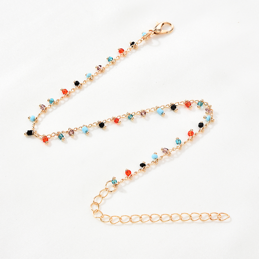 Color Rice Beads Tassel Ankle Bracelet Bracelets Anklets for Women Leg Bracelet Beach Accessories Sandals Foot Fashion Jewelry