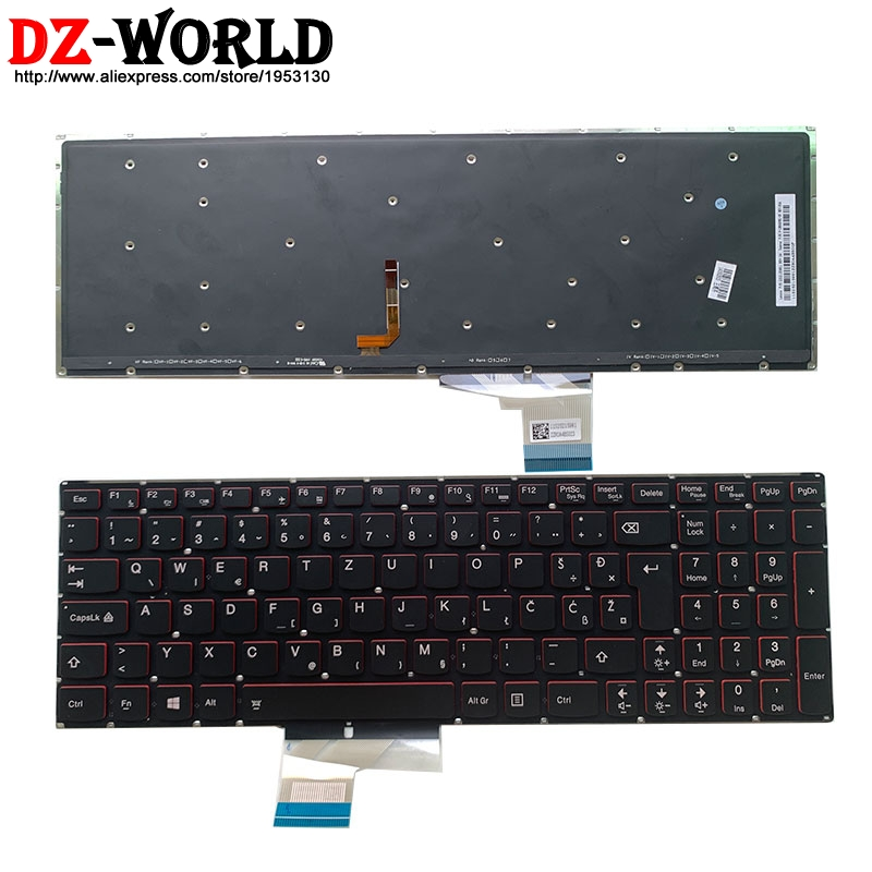 New/Origl Slovenia Backlit Keyboard For Lenovo Y50-70 Y70-70 Touch Laptop Teclado 25215981 25216012