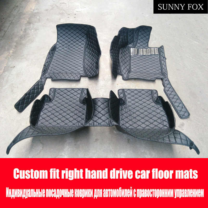 """Guida a destra/RHD per BMW 3 serie E46 E90 E91 E92 E93 F30 F31 F34 GT 5D car styling carpet floor liners (1999-presente)"""