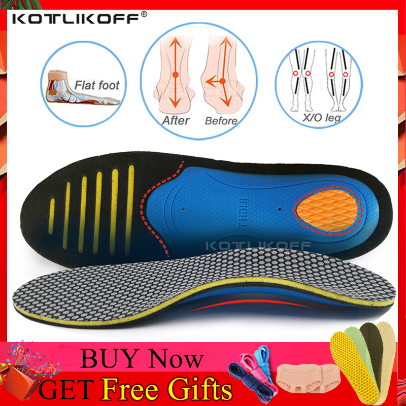 Ортопедическая обувь KOTLIKOFF, стельки на плоской подошве, супинатор для обуви унисекс из ЭВА, ортопедическая супинатор для спортивной обуви|Стельки|   | АлиЭкспресс
