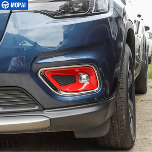 Image 3 - Mopai Auto Stickers Voor Jeep Cherokee 2019 + Abs Auto Mistlamp Lamp Decoratie Cover Accessoires Voor Jeep Cherokee 2019 +