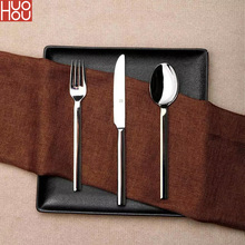 Huohou Stainless Steel Steak Knives Spoon Fork Tableware Quality High grade Dinner Dinnerware Household Cutlery Set