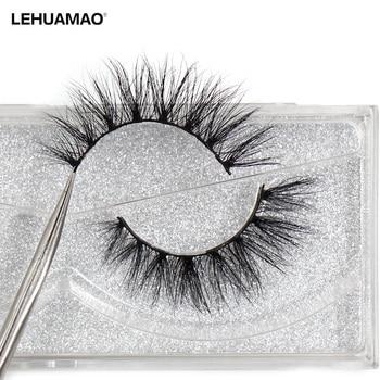 LEHUAMAO Luxury 5D Mink Hair False Eyelashes Wispy Cross natural Mink Lashes Extension Tools Makeup Handmade Mink Eyelashes A04 1