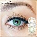 1 пара контактных линз EYESHARE спонж 3 тона цветные ed контактные линзы косметические контактные линзы цвет глаз для ежегодного использования 14,...