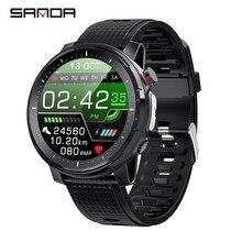 2021 toque completo 360*360 tela hd ecg relógio inteligente homem ip68 à prova dip68 água pressão arterial freqüência cardíaca esporte smartwatch bluetooth 5.0