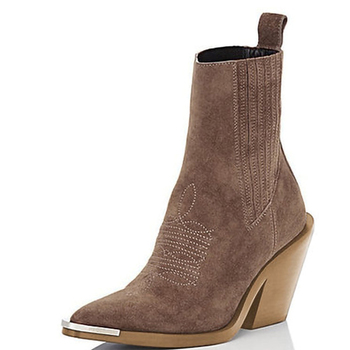 2020 Fashion Booties 6CM Block Heel Women Ankle Boots Ladies Boots Size 34-43
