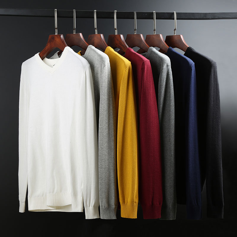 New Fashion Sleeveless Sweater Man Pullovers Vest Slim Fit Jumpers Knitwear V Neck  Winter Korean Style Casual Clothing Men