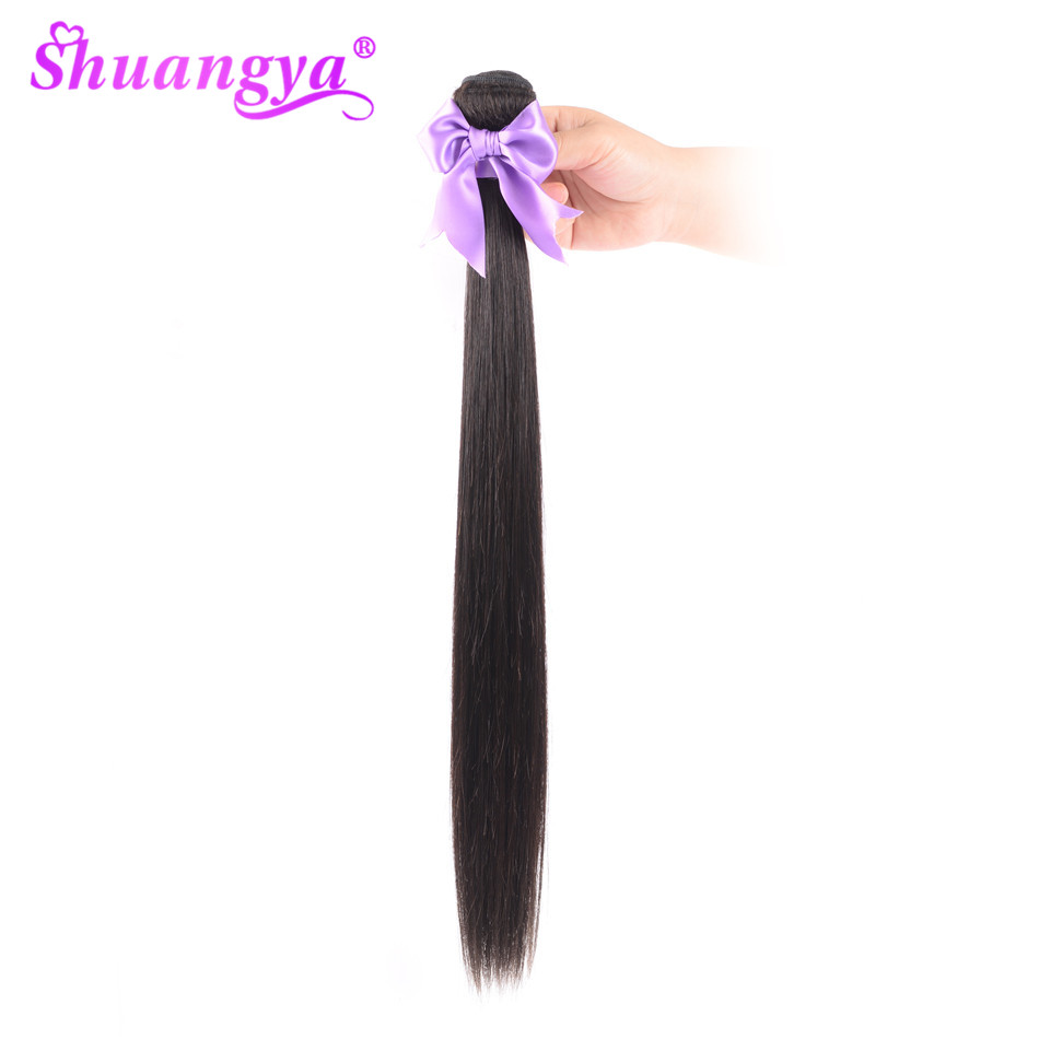 Malaysian Straight Hair Weave Bundles 100% Human Hair Extension Natural Color Shuangya Remy Hair Weaves 10