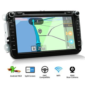 Quad Core Autoradio 2 din 8 Android 10.0 Car DVD radio player for VW/Golf/Passat/POLO/Tiguan/Skoda/Fabia GPS 3G wifi SWC BT image