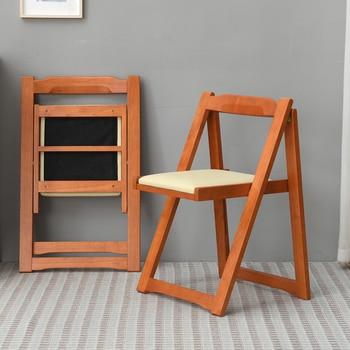 Silla de comedor Simple moderna plegable de madera maciza para comedores  Silla de diseño de madera