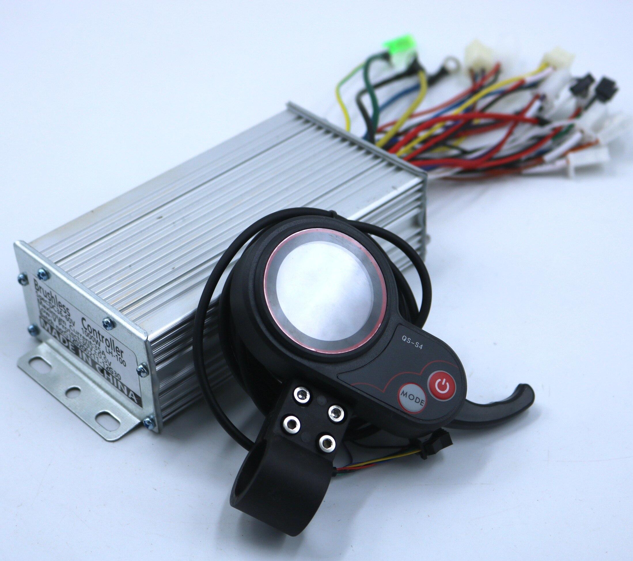 GREENTIME 36 V/48 V/60 V 800/1000W BLDC 전기 스쿠터 컨트롤러 전자 자전거 브러시리스 속도 드라이버 및 QS-S4 LCD 디스플레이 한 세트