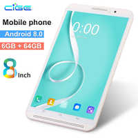 Polegada Tablet Pc Original 4 8G Telefonema 64 6G + G Android 8.0 Octa Núcleo 3G comprimidos 4G LTE Móvel Dual SIM Wi-fi 2.4G/5G